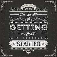 Vintage kalligrafische motivatie citaat Poster vector