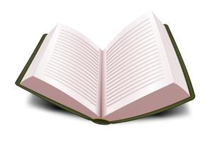 Ontwerp Open Boek met lijnen vector