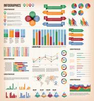 Vintage Infographic elementen vector