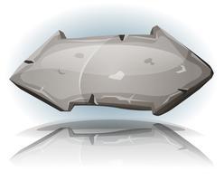 Stenen pijl teken voor Ui-spel vector