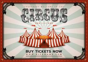 Vintage Circus Poster Achtergrond