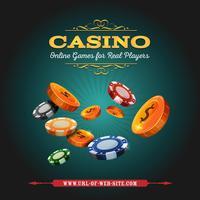 Casino en gokken achtergrond vector