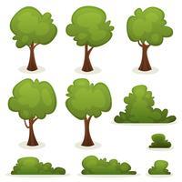 Bomen, hagen en struikenset vector