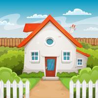 huis in de tuin vector