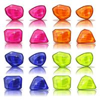 Cartoon edelstenen en juwelen Icons Set vector