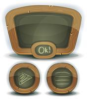 School schoolbord pictogrammen voor Ui spel vector