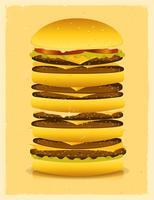 super grote hamburger vector