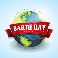 Happy Earth Day Banner 22 april vector