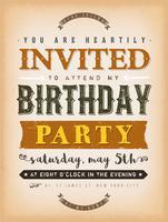 Vintage uitnodiging voor een feestkaart vector