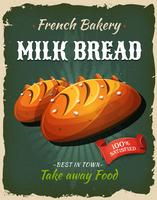 Retro melk brood Poster