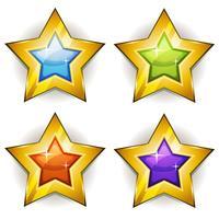Grappige sterren iconen voor Ui spel vector