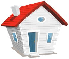 grappig klein huis vector