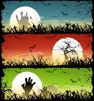 Halloween achtergronden instellen vector