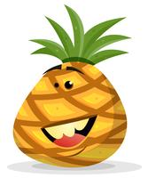 Cartoon gelukkig ananas karakter
