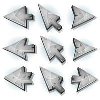 Steenpictogrammen, Cursor en pijlen vector