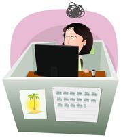Life In The Cube - Vrouw vector