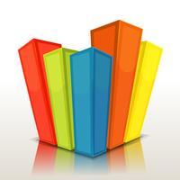 Ontwerp kolommen en statistiekenbalken vector