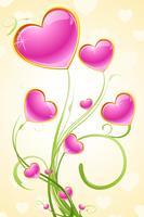 liefdesboom vector