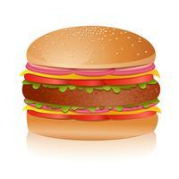 Lekkere hamburger vector