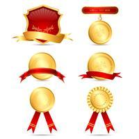 Verschillende medailles vector