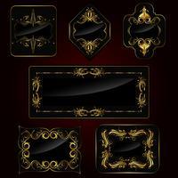 Set van gouden frame