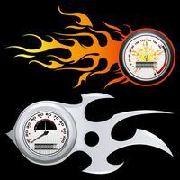 Vurige snelheidsmeter