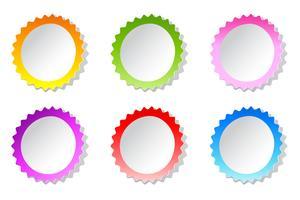 Kleurrijke sticker
