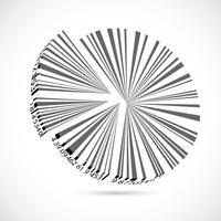 Cirkeldiagram streepjescode vector