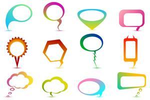 Kleurrijke tekstballon