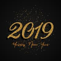 Glitter Gelukkig Nieuwjaar ontwerp vector