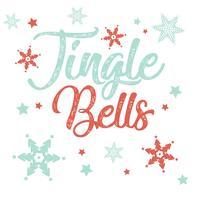 Kerst typografie achtergrond vector
