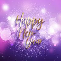 Decoratieve gelukkig Nieuwjaar achtergrond vector