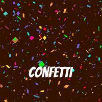 Abstracte decoratieve kleurrijke confettienachtergrond