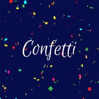 Abstracte kleurrijke confetti achtergrond vector