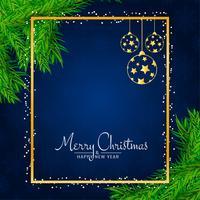 Stijlvolle decoratieve Merry Christmas-achtergrond vector