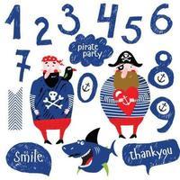 piraat pictogrammenset vector