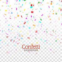 Abstracte decoratieve kleurrijke confettienachtergrond vector
