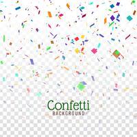 Abstracte kleurrijke confetti decoratieve achtergrond vector