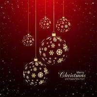 Merry christmas bal decoratieve achtergrond vector