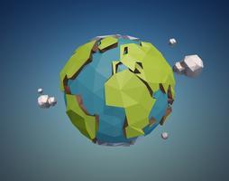 laag poly aarde vector