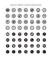 sociale media-logo's en pictogram vector