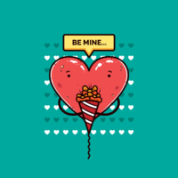 Valentijn snoep harten vector