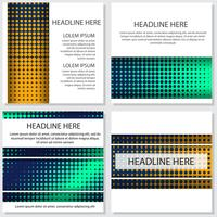halftone Flyer stijl achtergrond ontwerpsjabloon