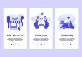 Online voedsel bestel mobiele apps Vector