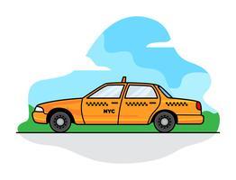 New York taxi vector