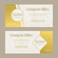 Coupon Vector sjabloon