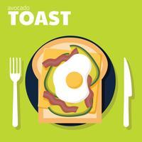 avocado toast vector ontwerp
