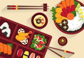 Bento Box Illustratie