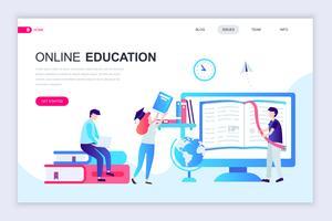 Online onderwijs webbanner vector