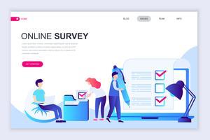Online Survey Web-banner vector